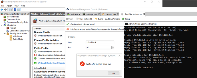 IP-Symcon - SolarEdge - Wating for connet timed out, firewall off.PNG